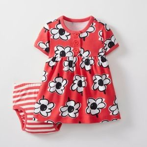 HANNA ANDERSSON floral short sleeve play dress
